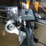 CUbe 255 on the top of the Sony HXR-HD2000