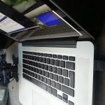 Macbook Retina feeding a Teradek Bond